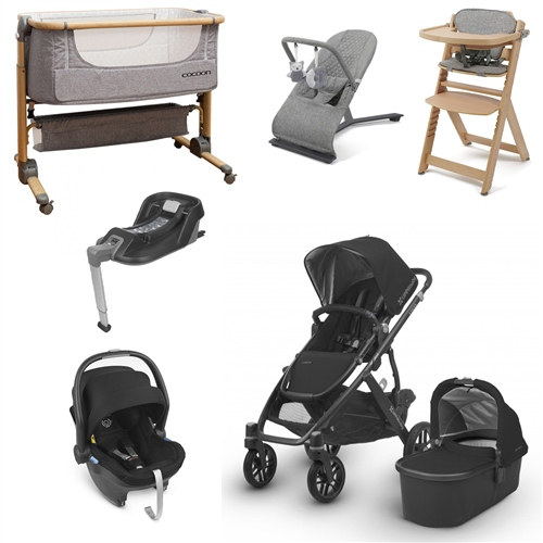Uppababy Vista 2018 Travel System & Premium Nursery Bundle  - Click to view larger image