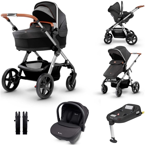 Silver Cross Wave Travel System & Isofix Bundle  - Click to view larger image