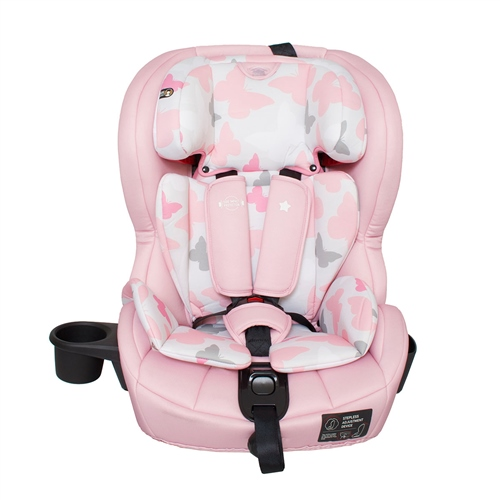 MyBabiie Katie Piper Group 123 Isofix Car Seat - Pink Butterflies