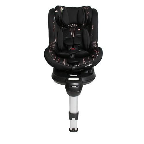 MyBabiie Orbit Group 0+/1 Spin Car Seat - Black & Rose Gold