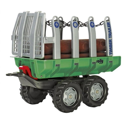 Toys Rolly Toys Twin Axle Trailer With Logs