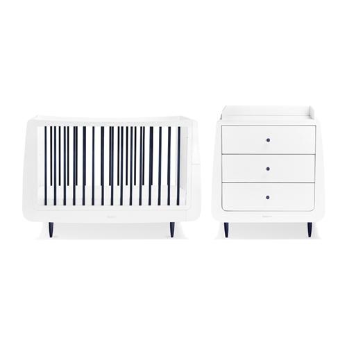 Baby Products Snuz SnüzKot Skandi 2 Piece Nursery Furniture Set - Metallic
