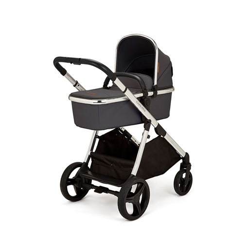 Ickle Bubba Eclipse Travel System with Galaxy Car Seat and Isofix Base - Graphite Grey (Black Handle)