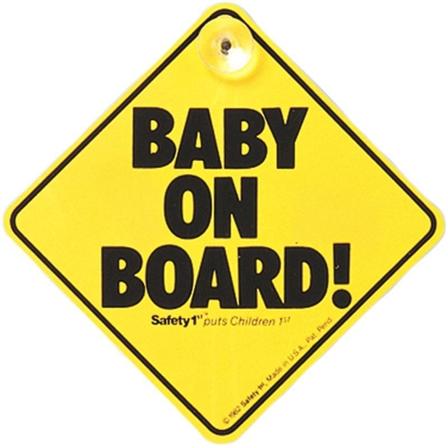 Safety 1st Baby on Board Sign  - Click to view larger image