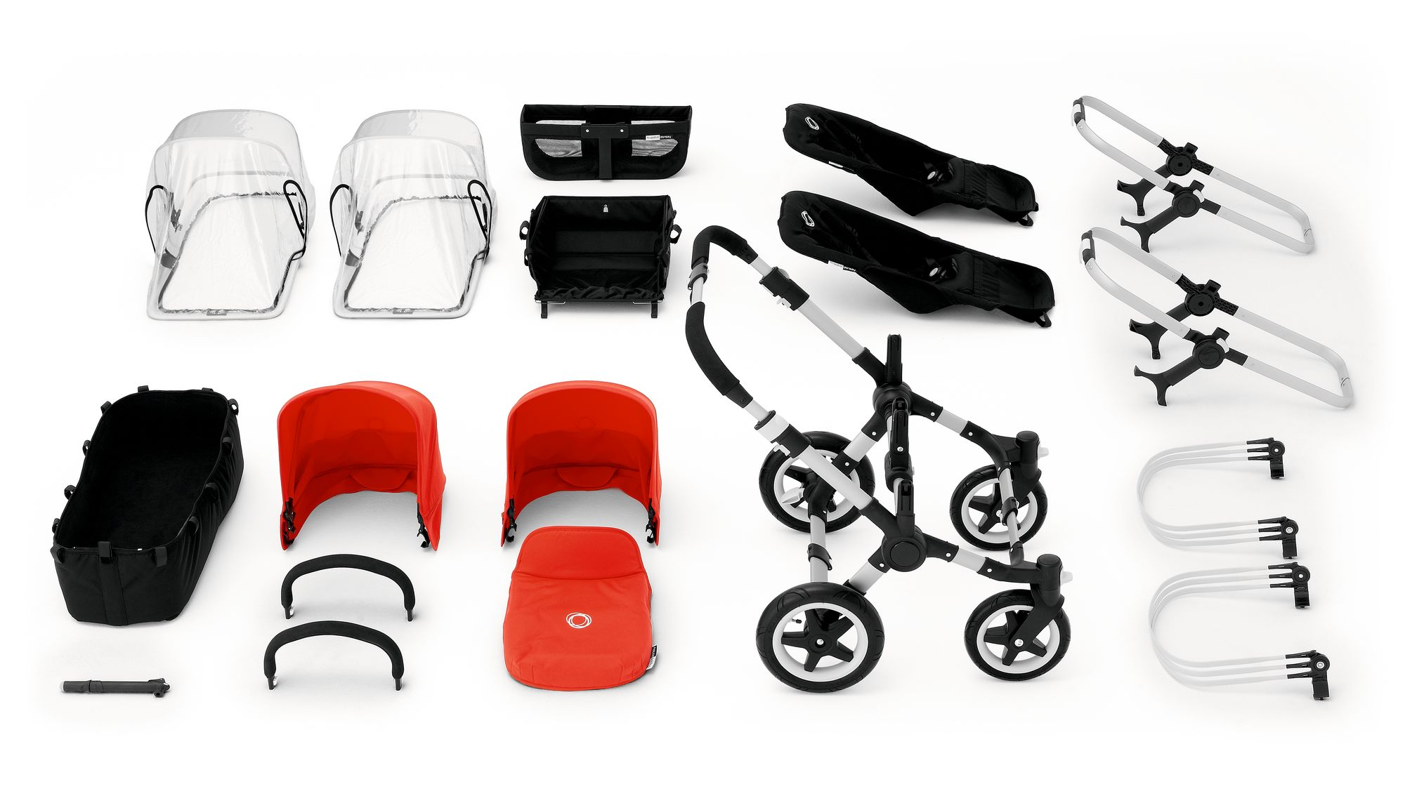 bugaboo donkey duo aluminium chassis tailored set. Black Bedroom Furniture Sets. Home Design Ideas