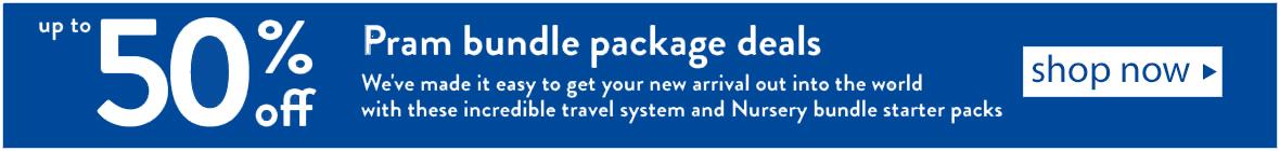 up to 50% off Pram Bundle starter Packages